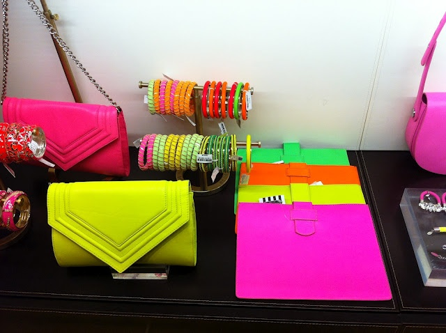 Neon accessories! Love everything
