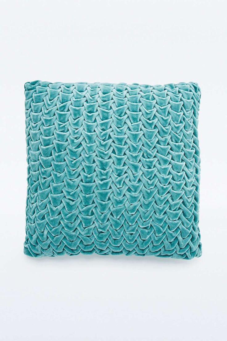 Quilted Velvet Blue Cushion