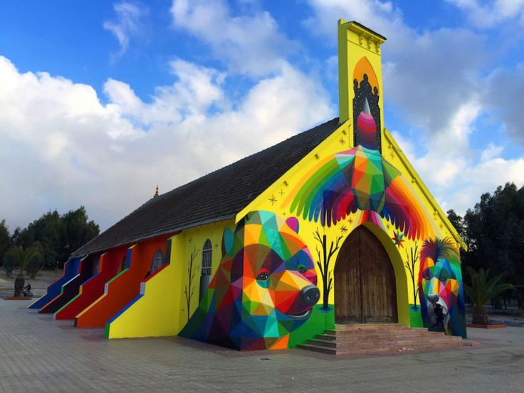 Okuda Graffiti Pinterest San Miguel Pintura And Graffiti - Artist gives italian kindergarten vibrant fairytale makeover