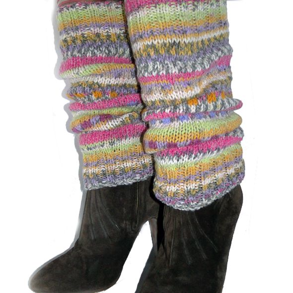 Hand Knitted Leg Warmers - Afternoon Tea