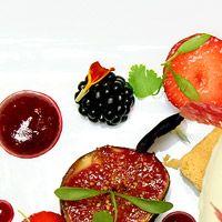 Roasted Figs, Mixed Berries & Rose Sorbet. Tartufo - Chelsea - London