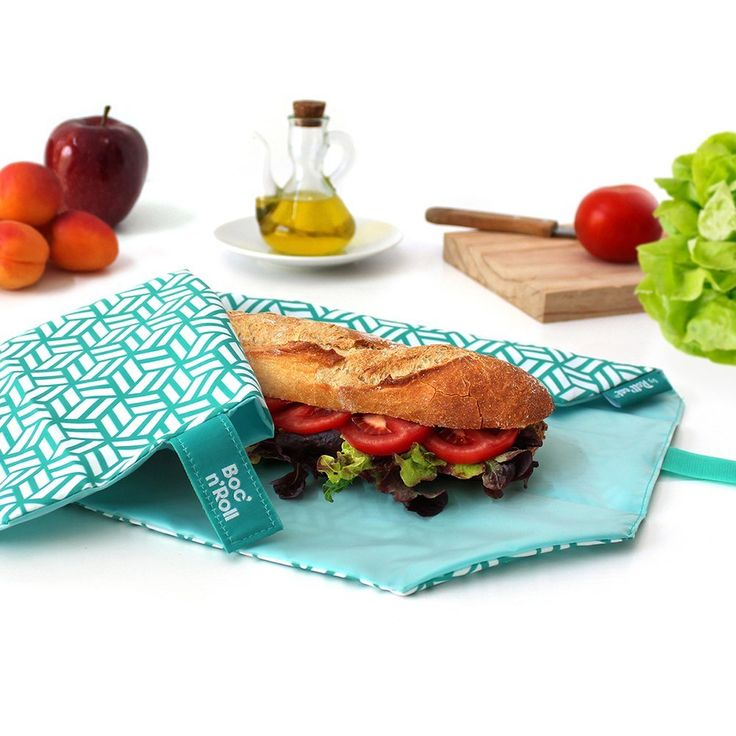 10 sustainable alternatives to plastic bags for food storage including these Roll'eat reusable sandwich wraps #ecofriendly #lightweight #backpacking