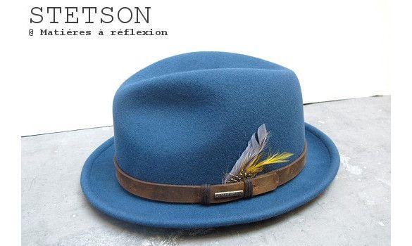 612d2c5b42d Stetson chapeau homme Hailey feutre bleu  chapeau  hat  stetson  homme  men