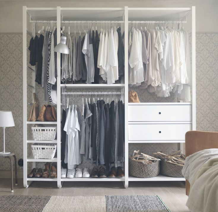 A lightweight storage system that helps you organize and access your clothing.