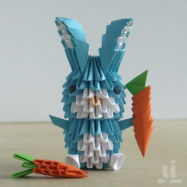 3D oragami bunny