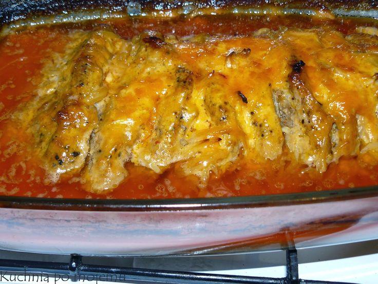 Kuchnia po mojemu: Karkówka pieczona w majonezie i keczupie. Obiad na...