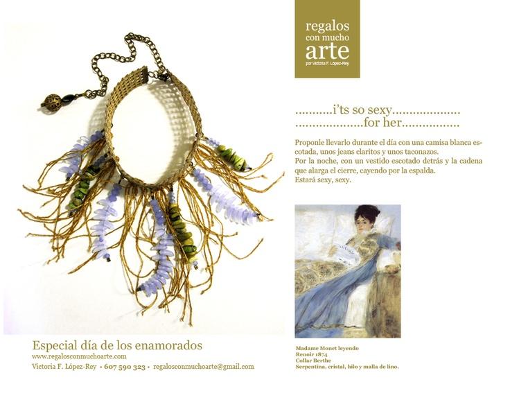 Collar Berthe   $135 - 105€  www.regalosconmuchoarte.com