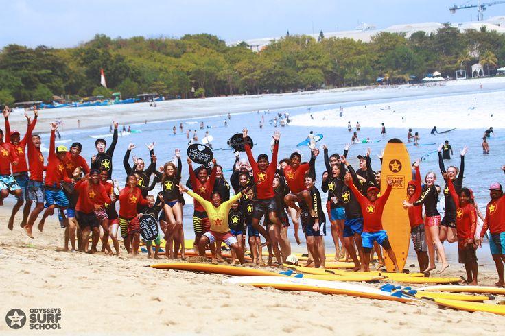 Daily surf lesson. Fun as always :) #surfing #surfingisfun #odysseysurfschool #odysseysurfbali #kutabeach #bali # summer #surf #sunny #beach #surfboard
