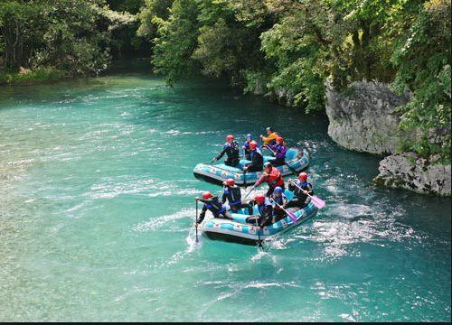 River rafting in Voidomatis River, Zagori Greece