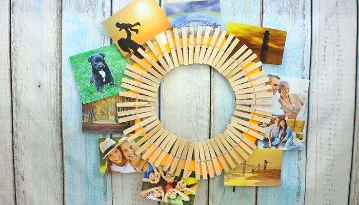 Make A Quick DIY Clothespin Picture Holder