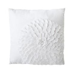 white on white pillow: White Flower, Flower Pillow, Spare Room