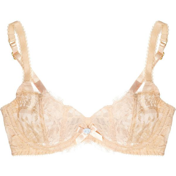 Agent Provocateur Darla lace and tulle underwired bra ($190) ❤ liked on Polyvore