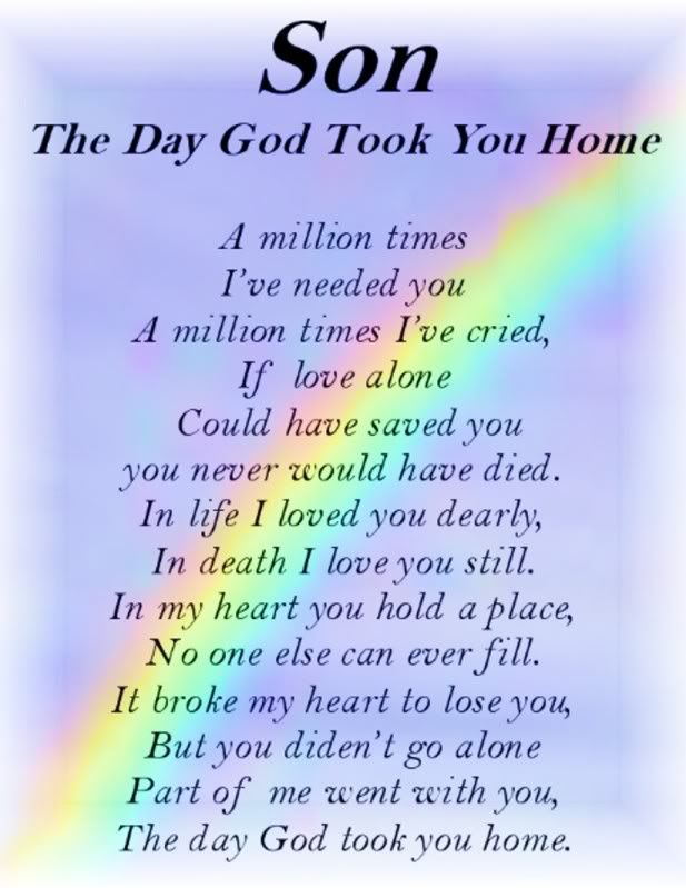 In Remembrance of son | Bereavement Grave Card SON The Day GOD Took You Home | eBay