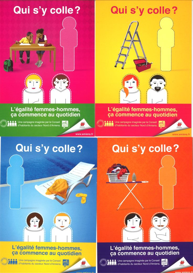 Amiens 2013 Campagne d'affichage pour l'égalité hommes-femmes au quotidien;