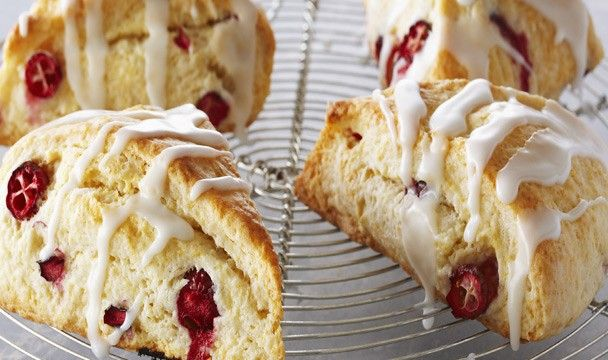 Classic Lemon Cranberry Scones with Lemon Glaze : Bake with Anna Olson : The Home Channel