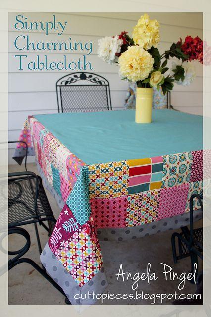 Toalha de mesa em patch,