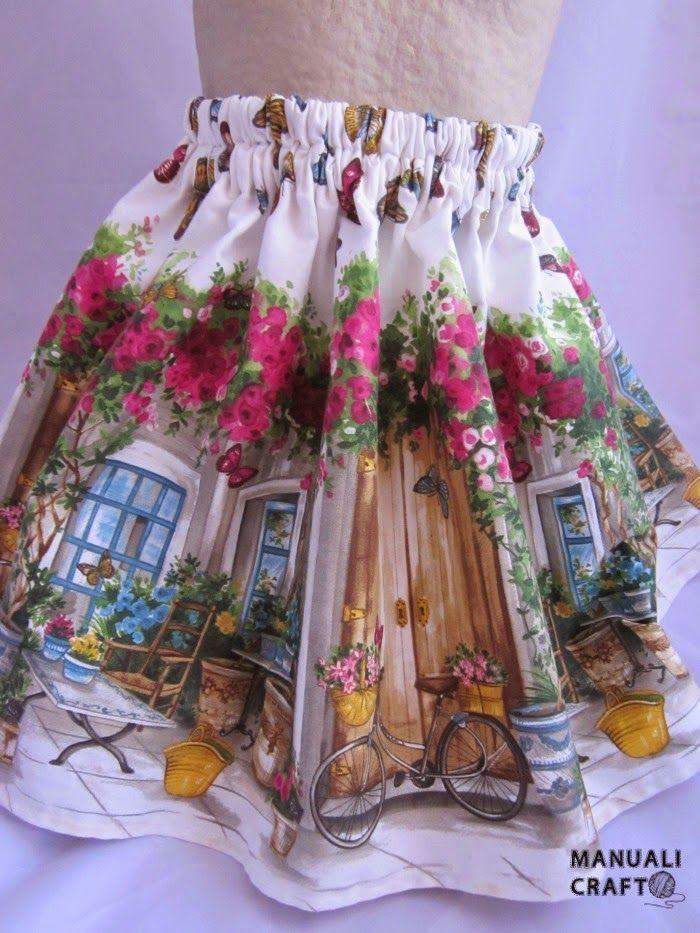 Como hacer una falda para una niña con cinturilla de gomas | Manualicraft - Amigurumi, scrap y costura creativa