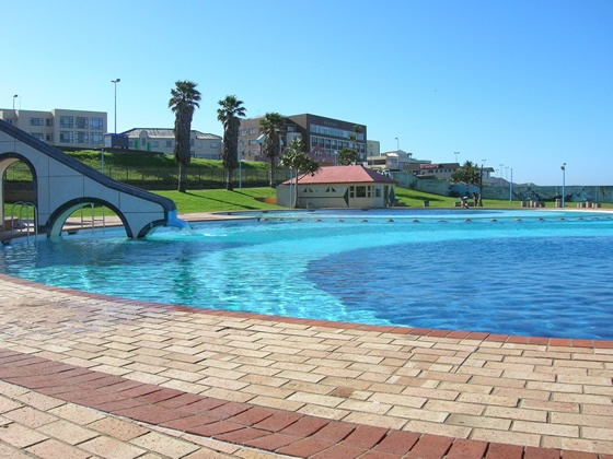 Orient Beach swimming pool, East London, South Africa