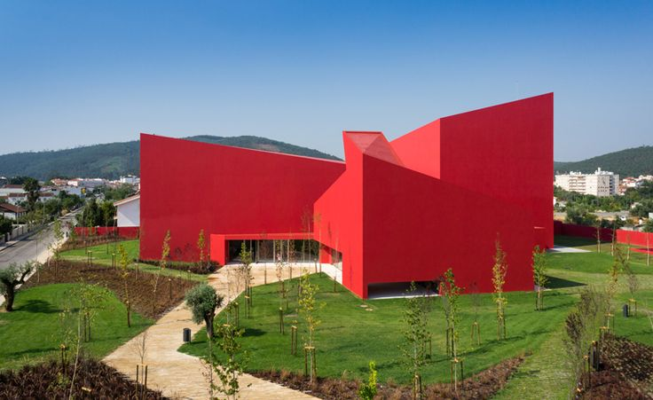 Future Architecture Thinking designs the flame-red House of the Arts in Miranda do Corvo | Architecture | Wallpaper* Magazine