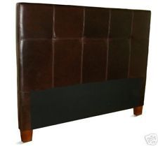 Queen Size Coffee Brown Leather Headboard for Bed, NEW!