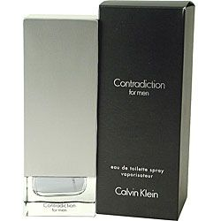 @Overstock - This 3.4-ounce eau de toilette spray from Contradiction is sure to make an impression and have others wondering what you are wearing. The scent combines a blend of familiar aromas, such as lime and sage. Use this spray yourself or give it as a gift.http://www.overstock.com/Health-Beauty/Contradiction-Mens-3.4-ounce-Eau-De-Toilette-Spray/3542581/product.html?CID=214117 $25.27