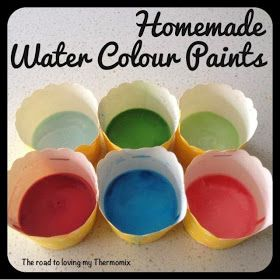 The road to loving my Thermomix: Homemade Water Colour Paints