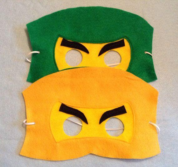 Ninjago Voelde Masker Bevat 6 Maskers Van Nanandgefavors Op Etsy Lego Birthday Party Lego Birthday Felt Mask