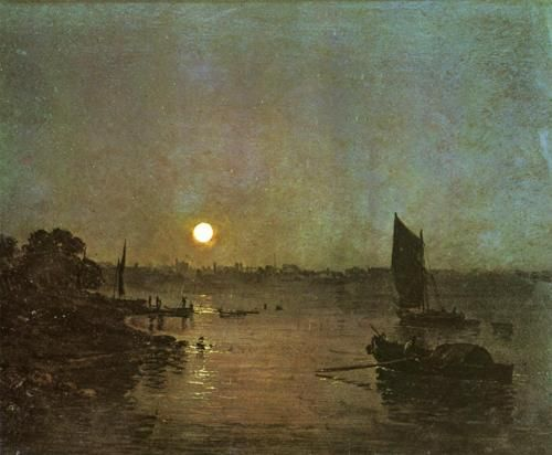 JMW Turner, Moonlight, (1797) - Google Search  One of our favourites.