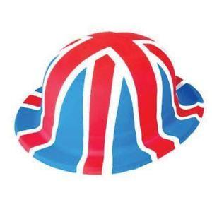 a gran bretana union jack bandera sombrero bombin de plastico fiesta callejera de deporte favorece