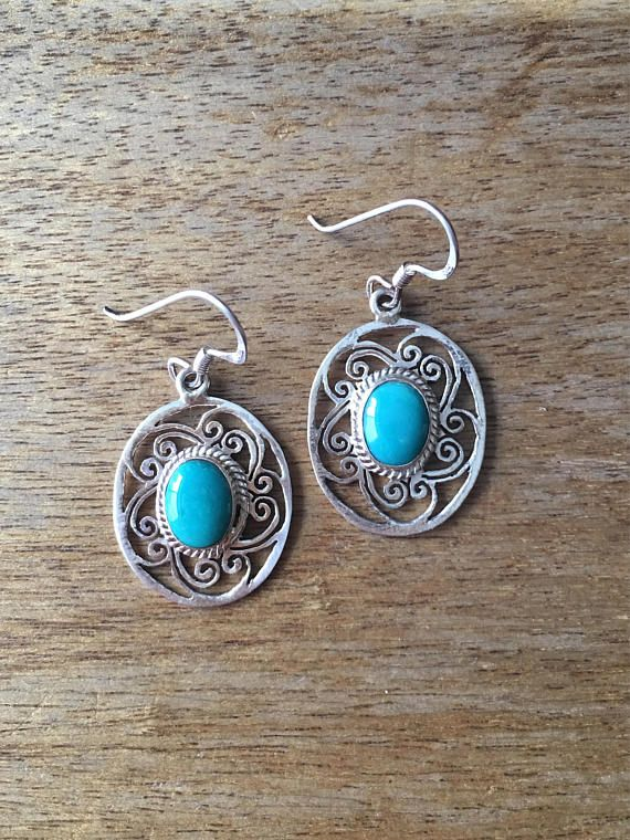 Turquoise Earrings Genuine Turquoise Earrings Turquoise