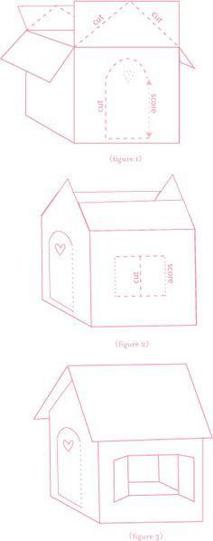 How to make a cardboard gingerbread house