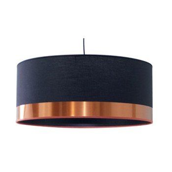 Suspension, e27 design Copper coton noir 1 x 60 W METROPOLIGHT | Leroy Merlin