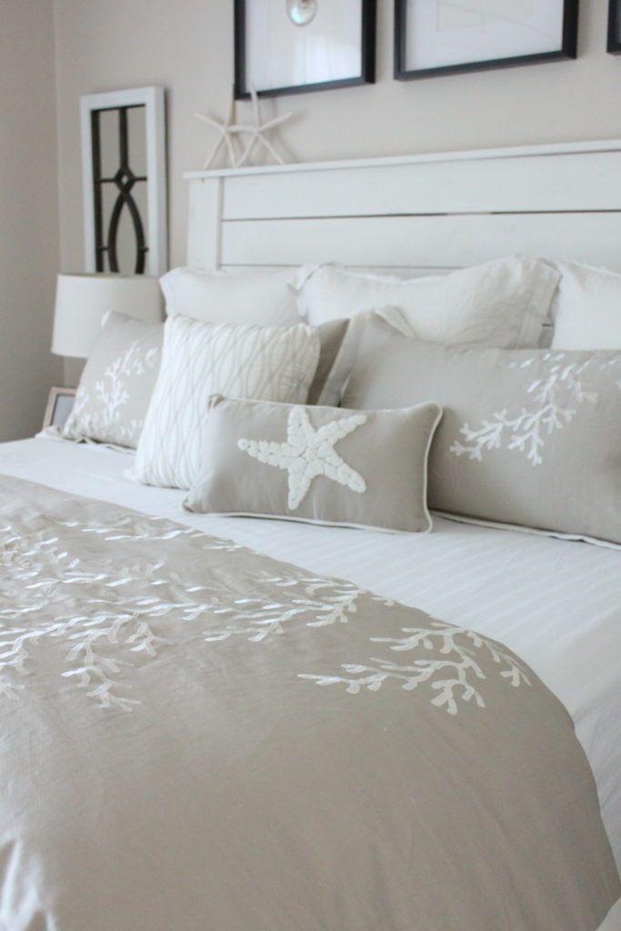 A Coastal Style Bedroom Makeover With Caron S Beach House Starfish Cottage Coastal Style Bedroom Beach House Bedroom Coastal Bedrooms