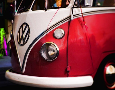 Vintage Red Volkswagon Bug Bus Print Digital Download by LEXIBAGS. I want one of these bad boys so much!