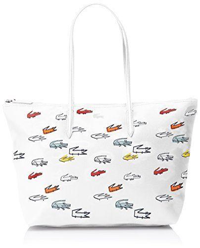 Lacoste L1212 Concept Croc, Sacs bandoulière: Lacoste Lacoste – Sac Lacoste shopping porté épaule ref_cem41559-993-48*30*13 Sac à main…