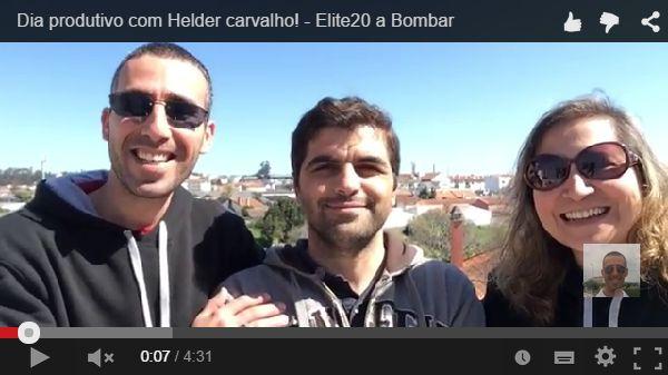 Dia produtivo com Helder carvalho! - Elite20 a Bombar  Qual a Razão de gostarmos de estar juntos?  Ver Resposta Aqui: https://youtu.be/89zabzIc8rs