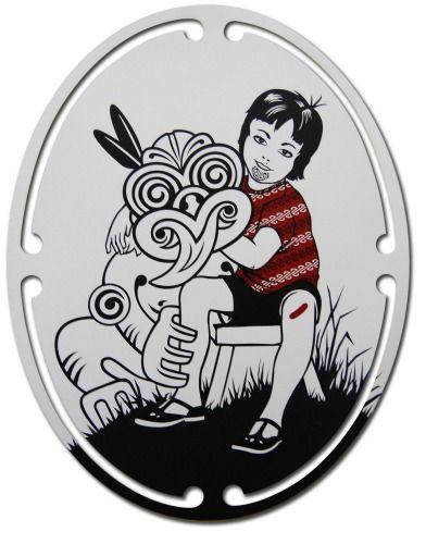 Boy & Friendy by Shane Hansen for Sale - New Zealand Art Prints