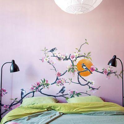 EN MI ESPACIO VITAL: Muebles Recuperados y Decoración Vintage: La primavera en la pared { Spring in a wall }