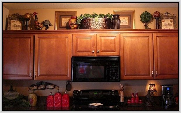 decor above kitchen cabinets |
