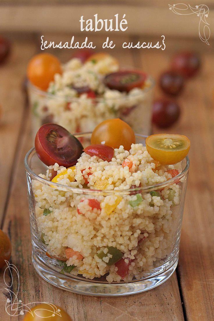 Tabulé o ensalada de cuscus {by Paula, Con las Zarpas en la Masa}
