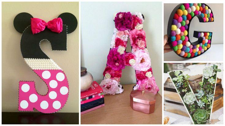 17 mejores ideas sobre letras para decorar en pinterest - Letras para adornar ...