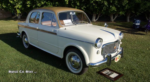 1960 Fiat 1100 - Desert Concorso 2014: http://www.specialcarstore.com/content/concorso-storms-desert