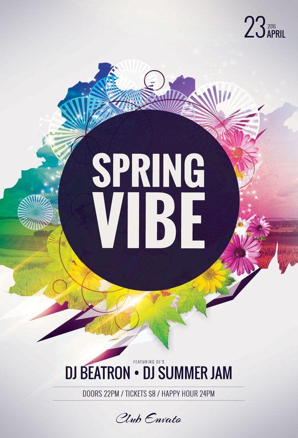 111 best Summer Flyer Design images on Pinterest Flyer design - spring flyer template
