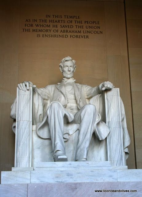 Lincoln memorial - So amazing when your actually standing in front of it. Ive actually been underneath this monument. Cant do that anymore....he sits/stands on stilts.