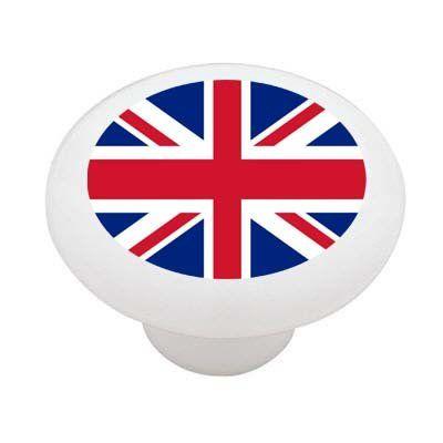 British Flag Union Jack Decorative High Gloss Ceramic Drawer Knob