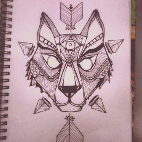 The Anatomy of a Starry Mind.: Geometric wolf.