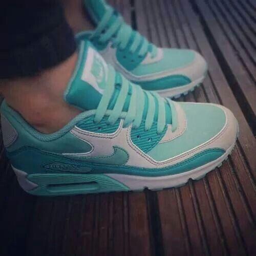 Mint green Nike airs