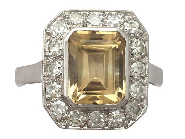'3.62 ct Citrine & Diamond Dress Ring - Vintage French' http://www.acsilver.co.uk/shop/pc/3-62-ct-Citrine-and-1-23-ct-Diamond-Platinum-Dress-Ring-Vintage-French-Circa-1940-35p9452.htm