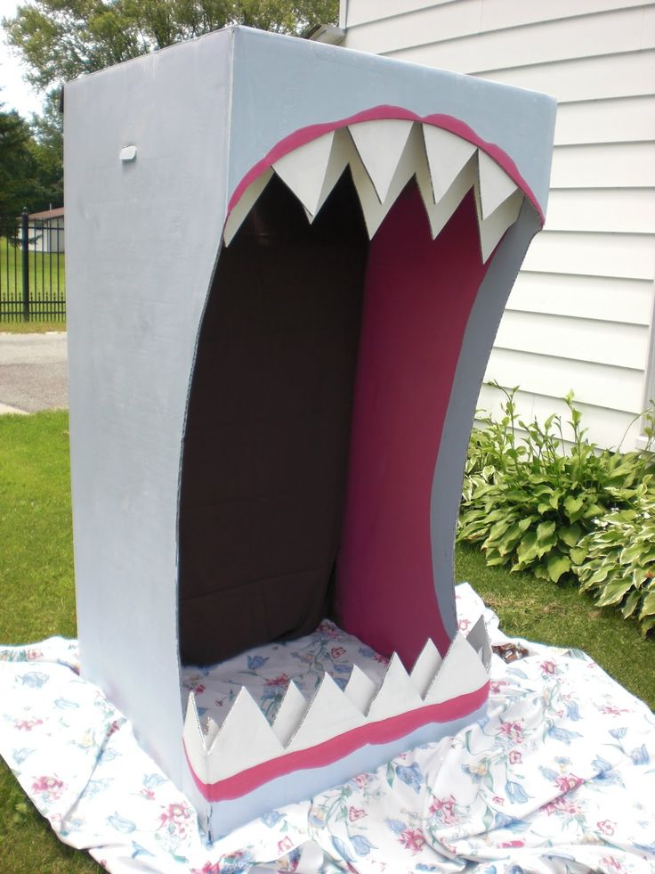 SHARK. Use as photo booth to take kids pictures in?