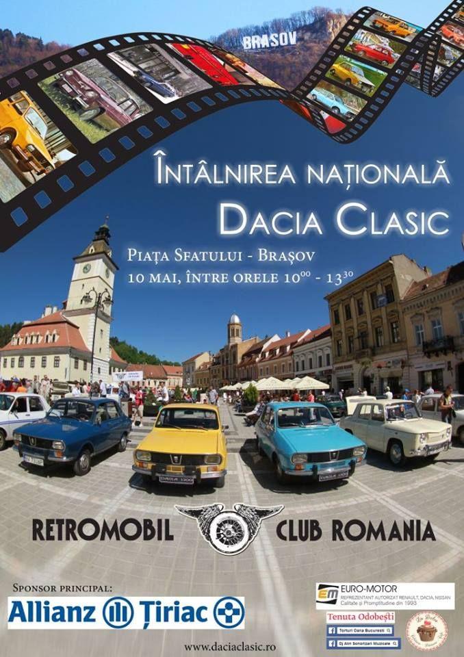 Posesorii de vehicule istorice Dacia 1300 si 1100 se intalnesc pe 10 mai la Brasov